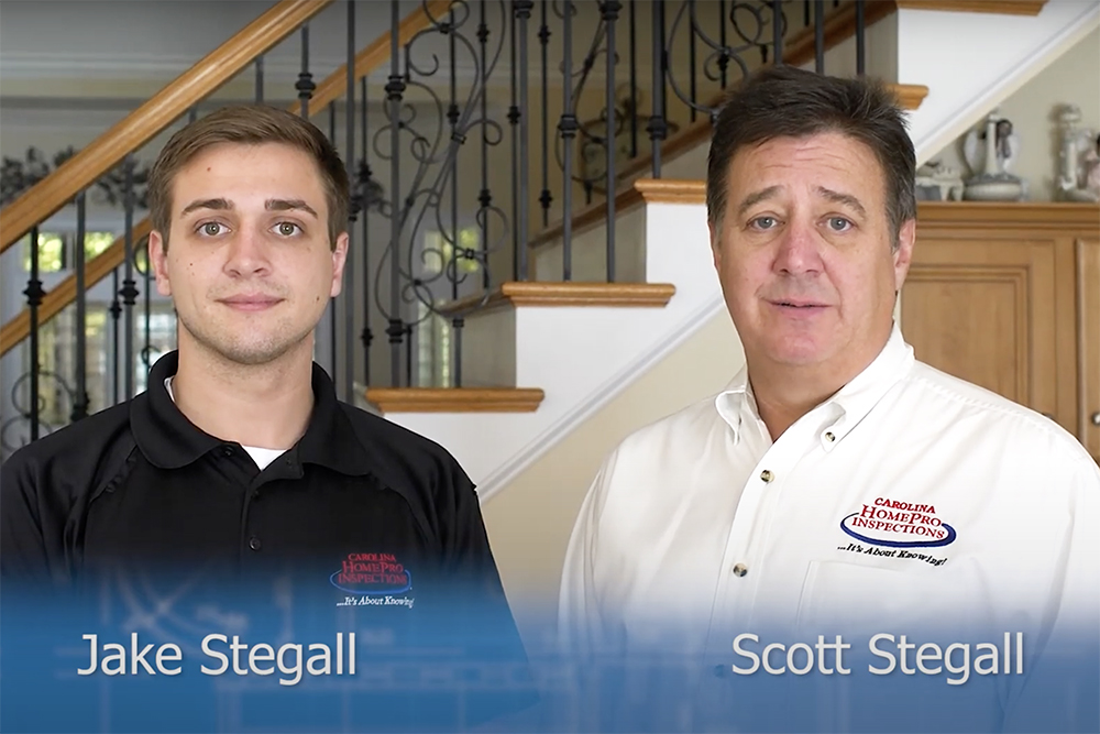 Carolina HomePros Jake Stegall and Scott Stegall seen while doing a home inspection