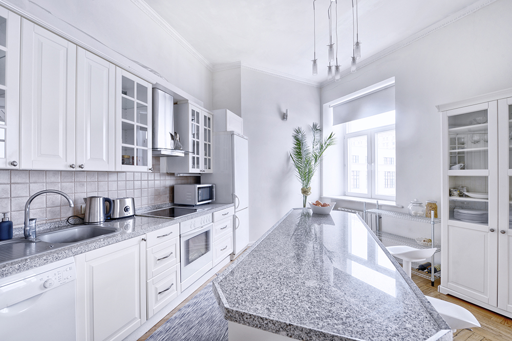 A new modern kitchen seen while providing a home inspection